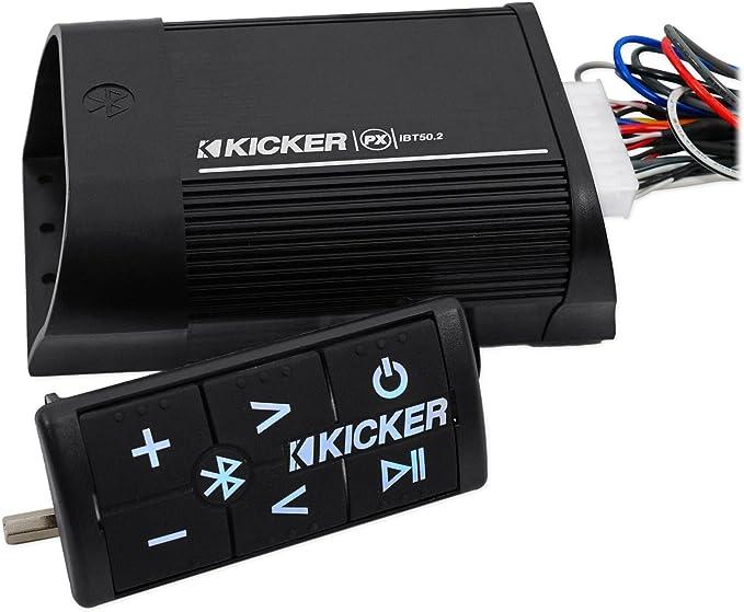 Kicker PXIBT50.2 Powersports Bluetooth 2 Channel 2-Ohm 25 Watt Amplifier Amp100