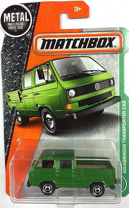 Amazon.com: Matchbox 2017 Volkswagen Transporter Cab 95/125, Green ...