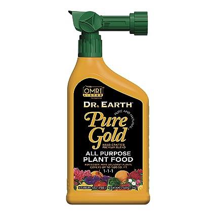 Amazon com : Dr  Earth Pure Gold All Purpose Liquid Fertilizer 32 oz
