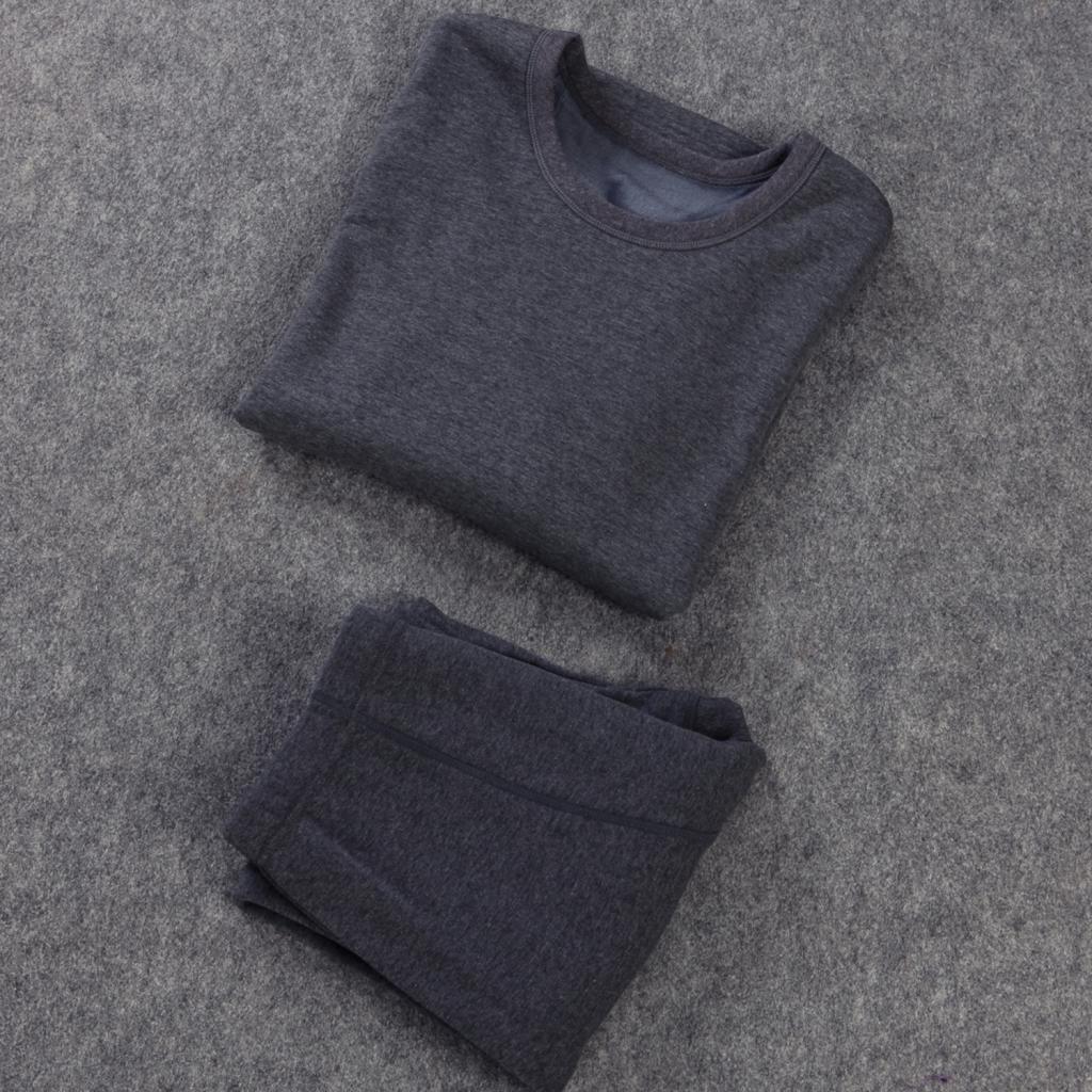 Liang Rou Set Canottiera /& Pantaloni Intimo Termico Elasticizzato Foderato a Lana da Uomo