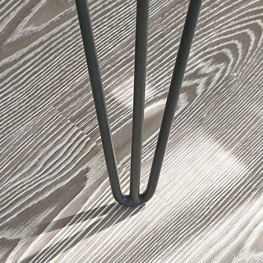 71 cm color plateado UISEBRT Pinza para el pelo con patas de mesa incluye protector para el suelo disponible en altura de 20 cm
