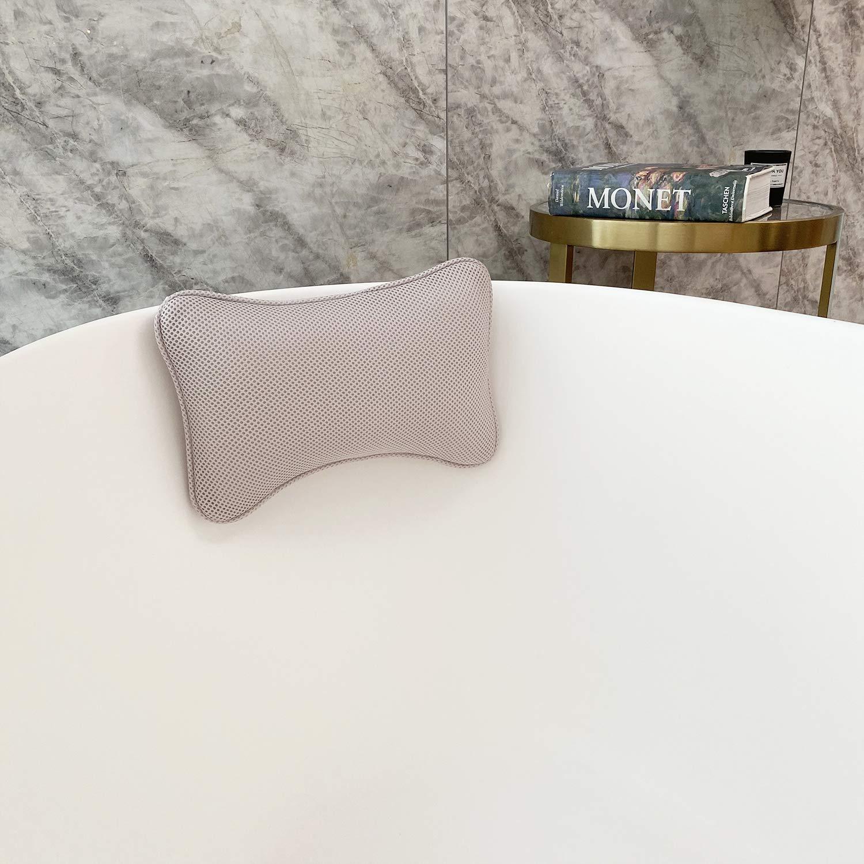 "Bath Pillow, Bathtub Pillow, 2 Suction Cups Washable 11"" x 8"" x 3"" (gray) : Beauty"
