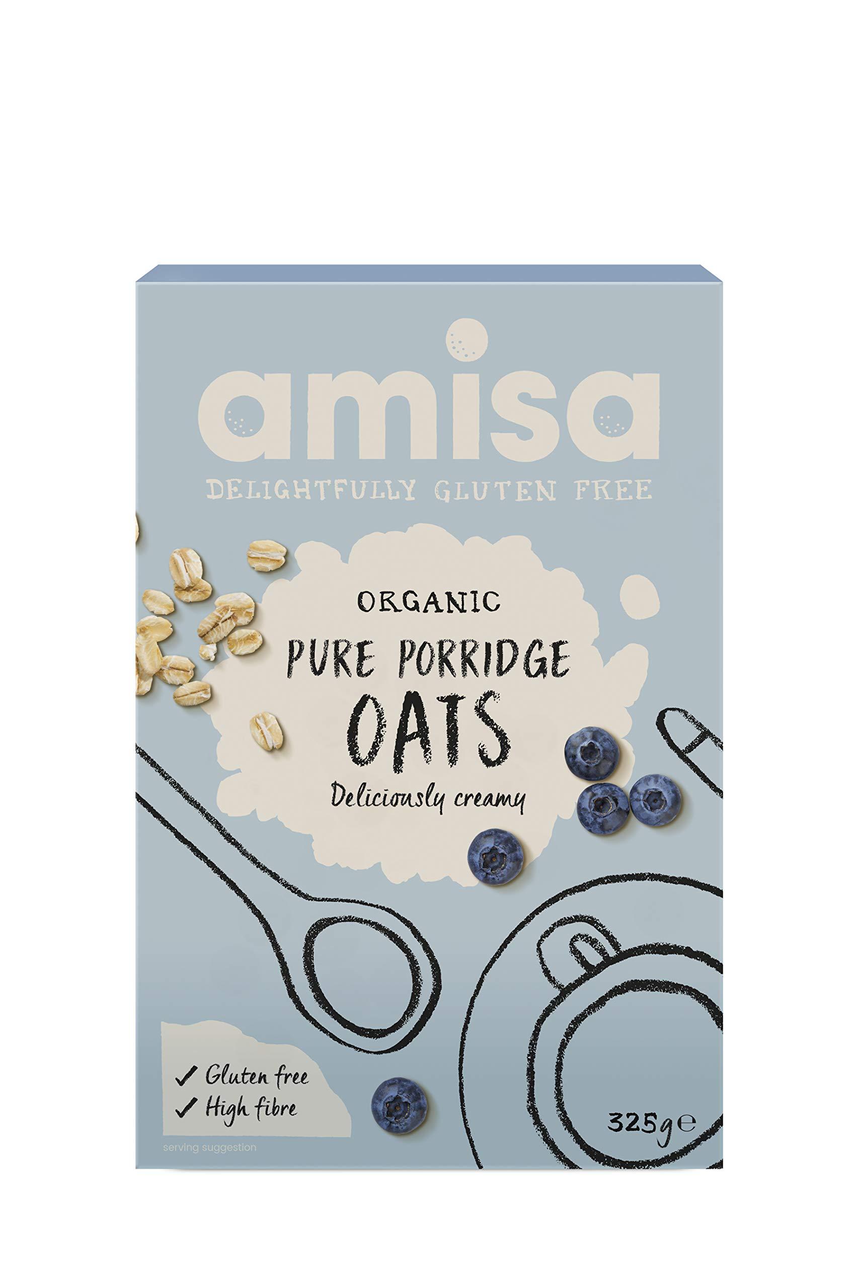 Amisa Organic Gluten Free Porridge Oats 325g (Pack of 6)