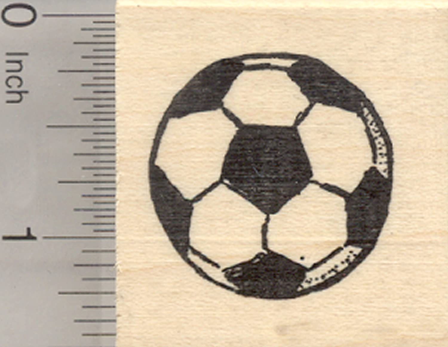 Soccer Ball Rubber Stamp Association Football