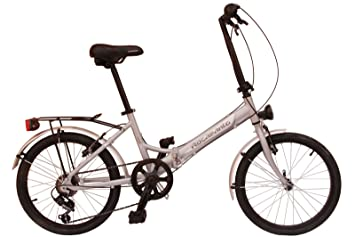 Bicicleta plegable aluminio Rocasanto HOP-ON AL, tamaño ruedas 20, color ALUMINIO