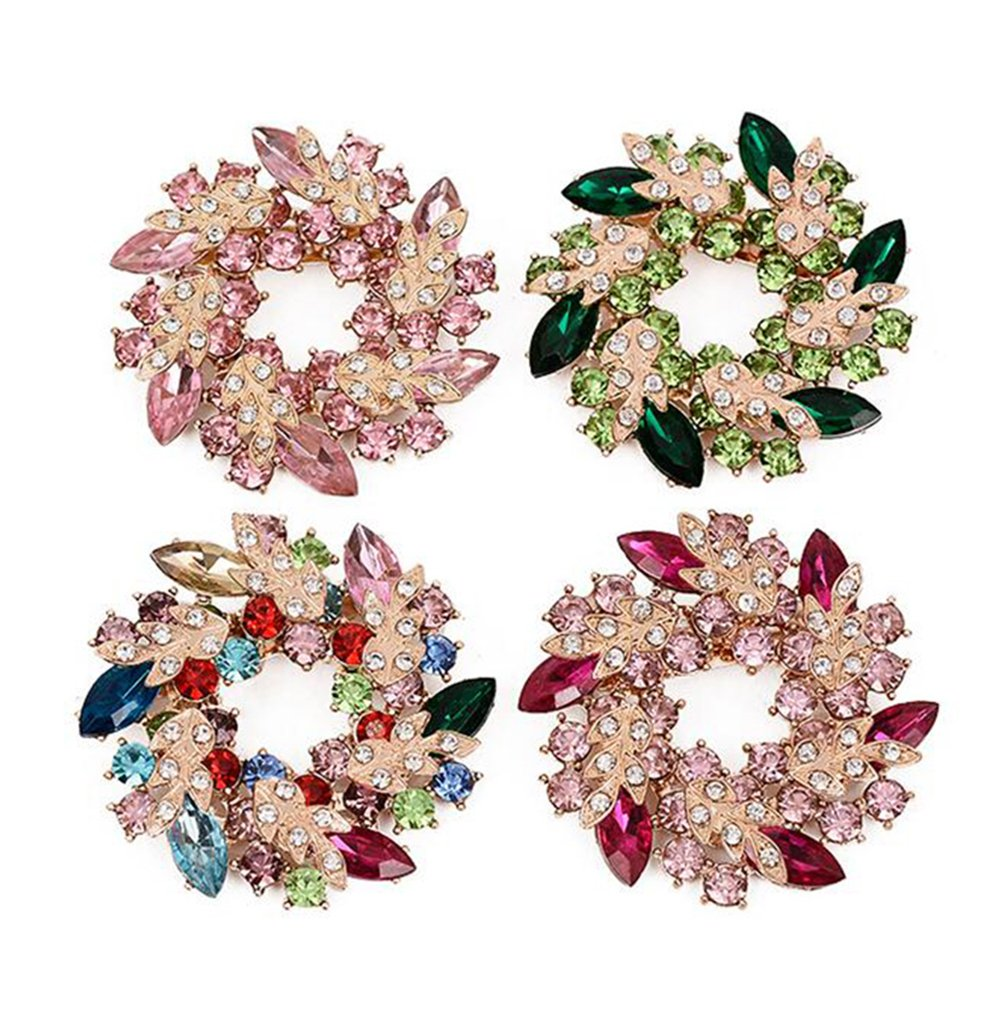 Dosige Accessoires de vêtement Broche Couronne Couronne de Broche Vintage Sexe Broche Diamant Diamant bauhinia Size 5.2 #1 5.2cm