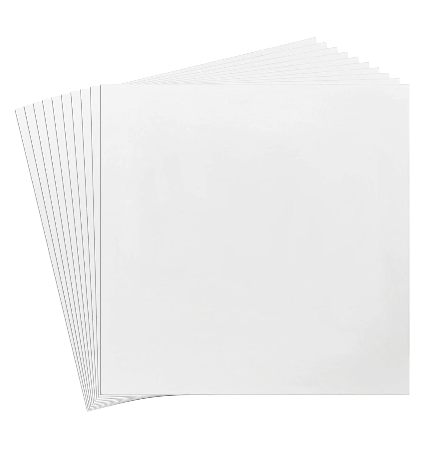 Pack of 10 8x8 White Picture Mats Mattes with White Core Bevel Cut for 4x4 Photo Golden State Art