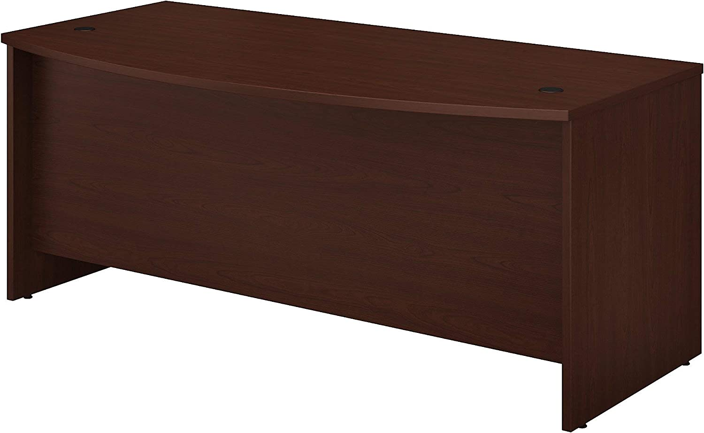 Bush Business Furniture Studio C Bow Front Desk, 72W x 36D, Harvest Cherry