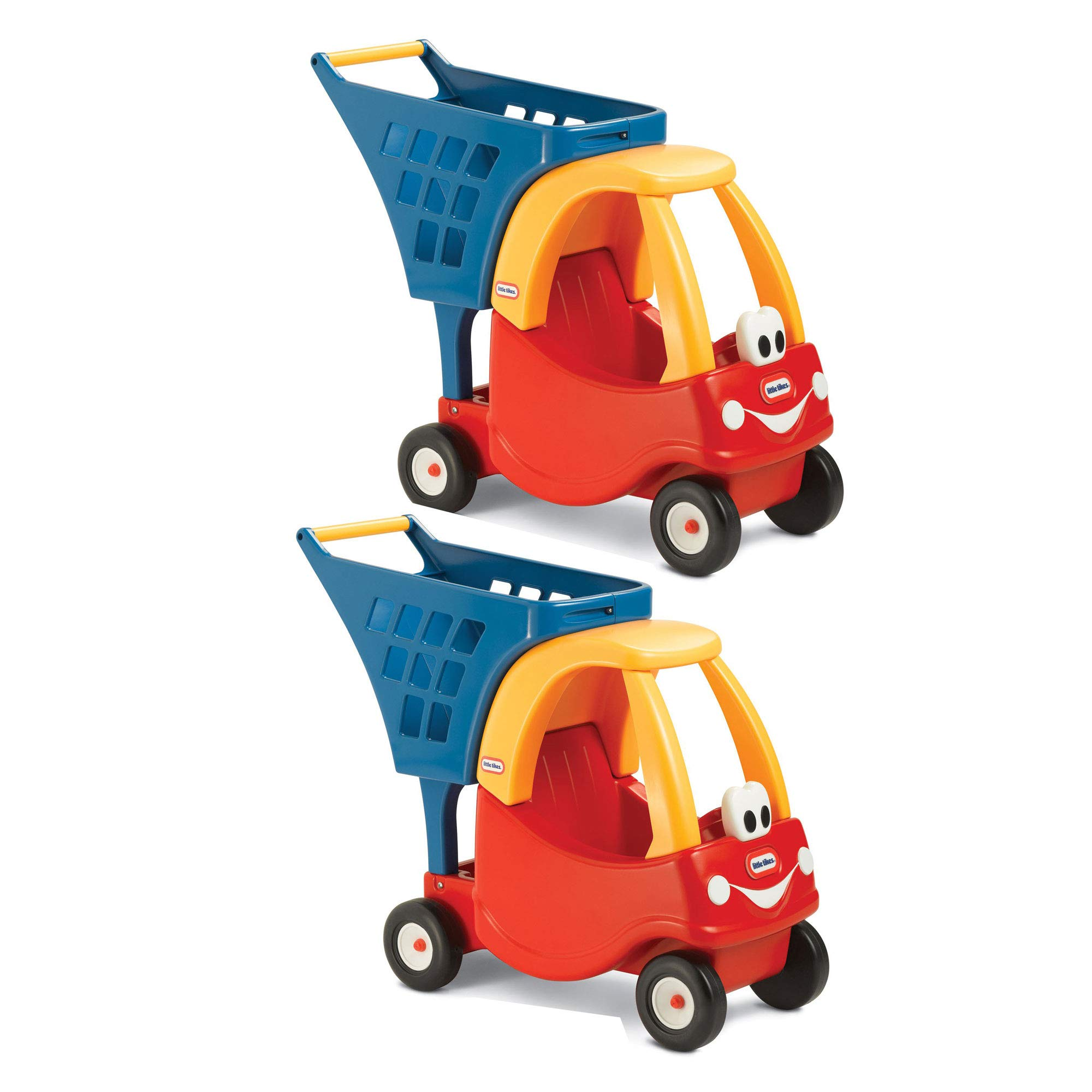 Little Tikes Cozy Coupe Kids Pretend Grocery Store Shopping Cart, Red (2 Pack)