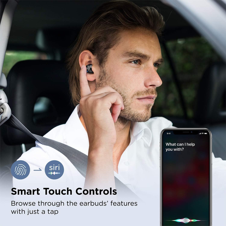 Wireless Headphones IPX8 Waterproof Touch Control USB-C Single//Twin Mode Boltune Bluetooth 5.0 in-Ear Earbuds with Graphene Driver Deep Bass CVC 8.0 Noise Cancellation Mic Wireless Earphones