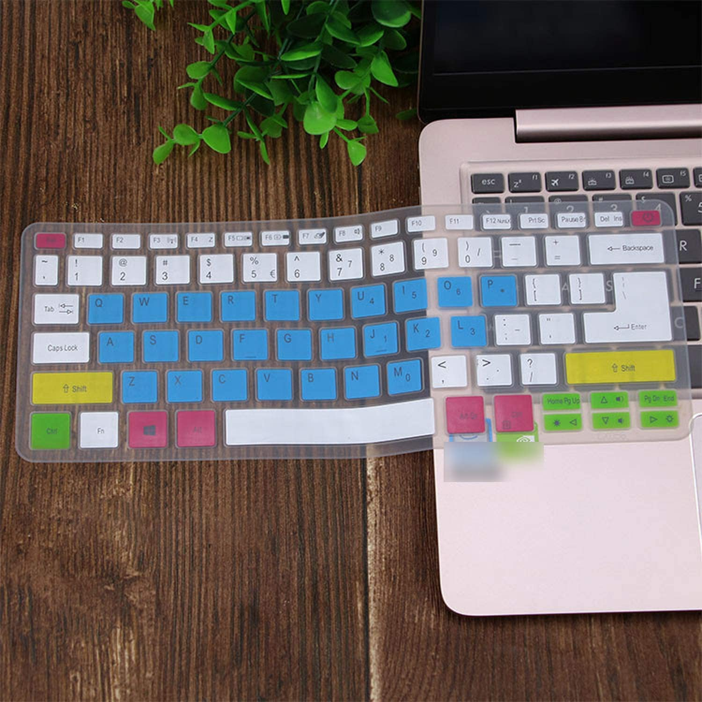 Silicone Keyboard Cover Skin Protector Guard for Acer Swift 3 Sf314 52 Sf314 54 Swift 1 Sf114 32 14 Inch I5 8250U Notebook-Black