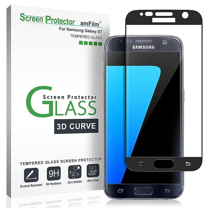 Verre Trempé Galaxy S7, amFilm Couverture Complète (Courbes 3D) Protecteur  D écran b5206eb68ab7