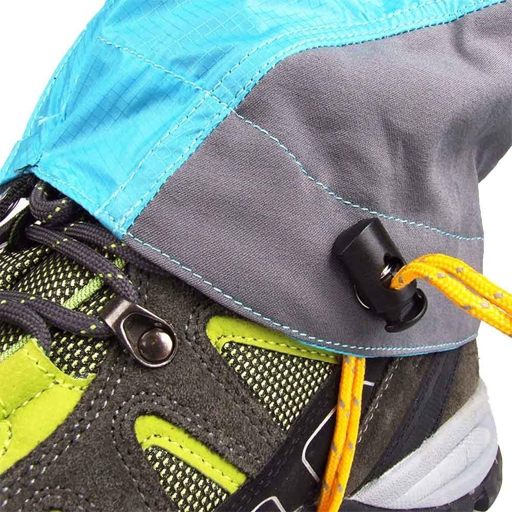 Eagsouni/® Ext/érieure Ultral/égers Gu/êtres Enduit de Silicon Nylon imperm/éable Jambes Protection Garde randonn/ée Trekking Escalade