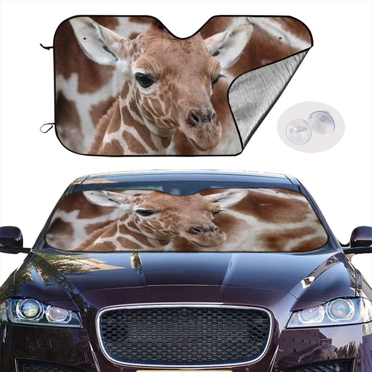 51.2 X 27.5 NengBuy Front Car Sunshade Windshield Baby Giraffe Sunshades for Car Foldable UV Ray Reflector Auto Front Window Sun Shade Visor Shield Cover Keeps Vehicle Cool