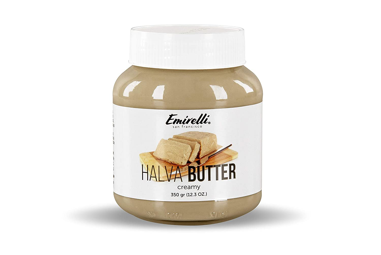 Emirelli Halva Butter (Original Turkish Halwa) –Delicious Spread Made from Natural Sesame Paste – Melts in Mouth – Soft Creamy Spreadable Tahini Butter Sweet Gourmet Snack (Halva Butter, 1 Pack)