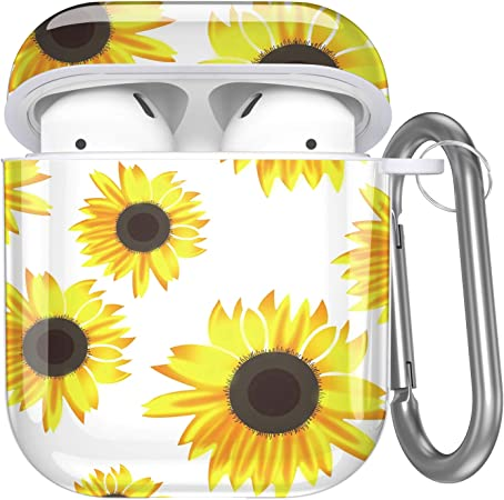 Protective Case for Apple Airpods, Hard Case - Sunflower