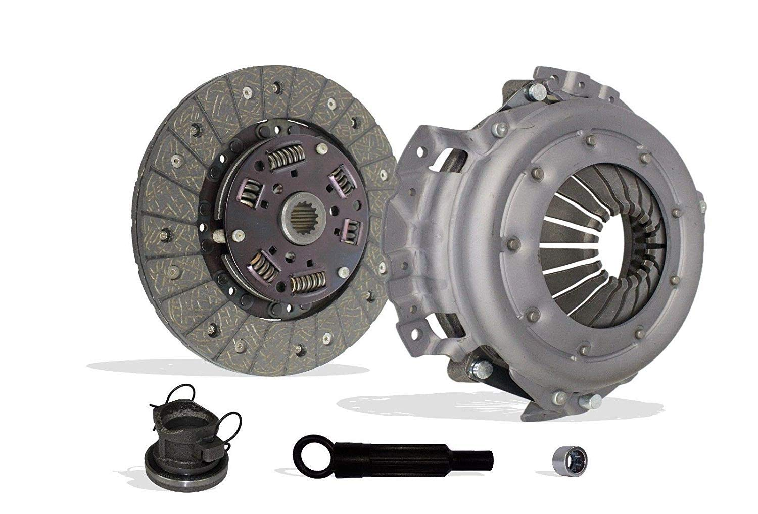 In Clutch Kit Works With Jeep Tj Wrangler Cherokee Base Se Rio Grande S Sport Utility 2-Door 1994-2002 2.5L 150Cu 4 CylindersL4, 2.5L l4 GAS OHV Naturally Aspirated