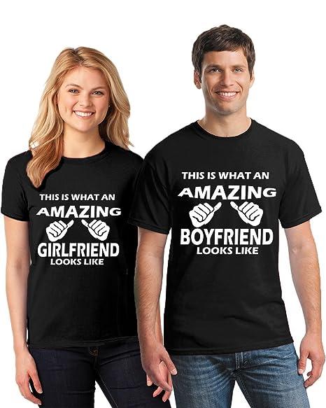 02ea70b33874 Pekatees Couple Matching Shirts Amazing Girlfriend Amazing Boyfriend T  Shirts For Couples Valentines Matching Outfits Black