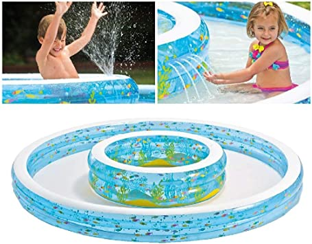 Intex - Piscina hinchable, 279 x 279 x 36 cm, 730 l (57143): Amazon ...