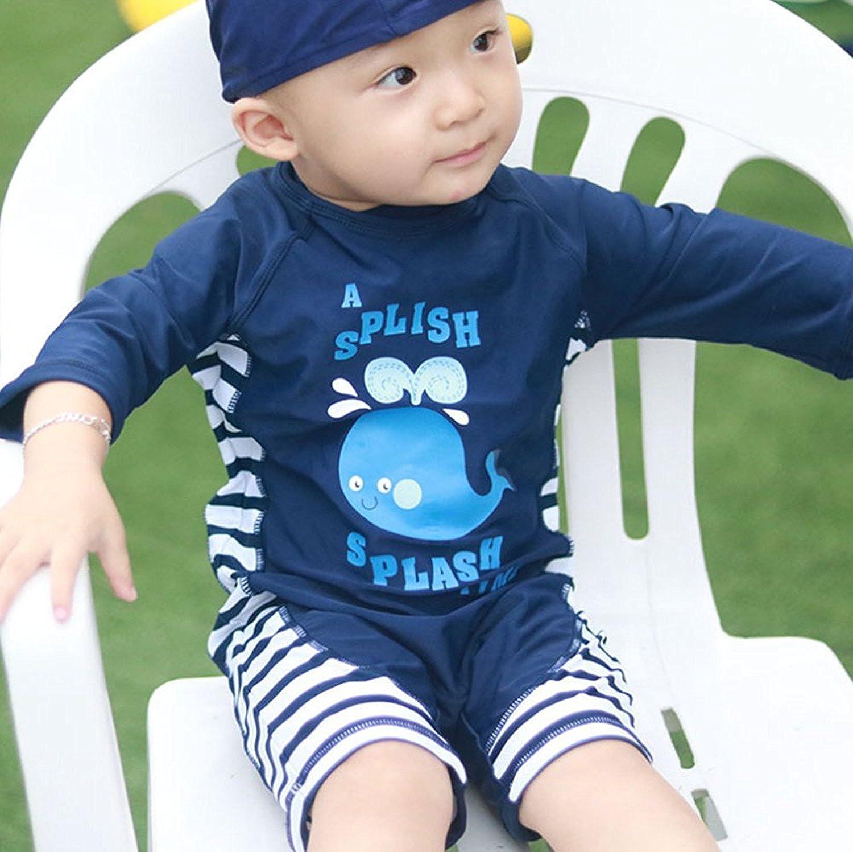 Baby Toddler Boy One Piece Swimsuit Set Kid Swimwear Bathing Suit UPF 50+