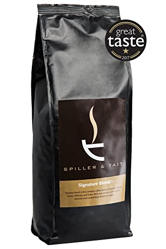 Spiller & Tait Signature Blend Coffee Beans - 1kg Bag - Multi Award Winning Roasted in Small Batches in the UK - Espresso Blend Suitable for All Coffee Machines