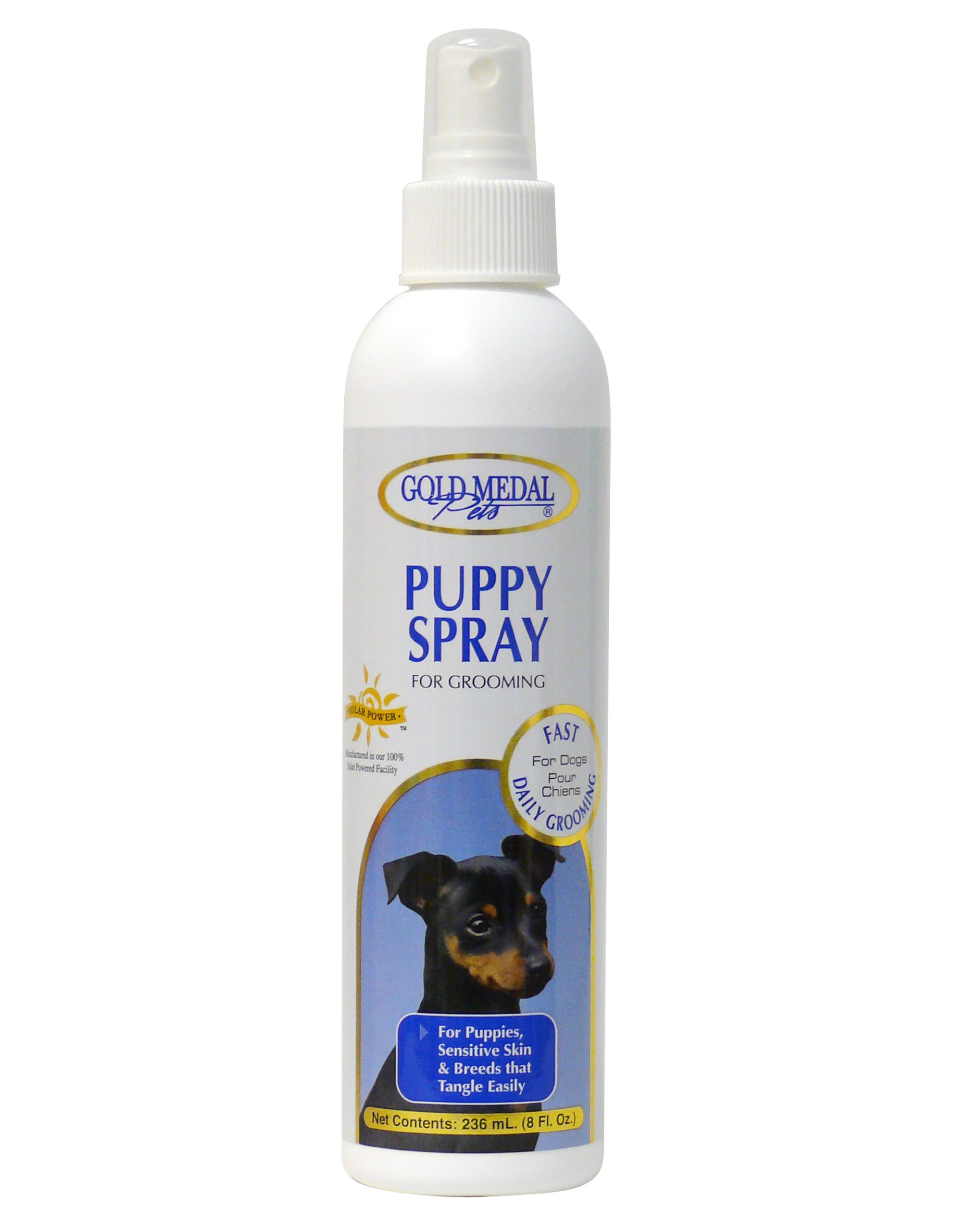 Gold Medal Pets Puppy Grooming Spray for Sensitive Skin, 8-Ounce