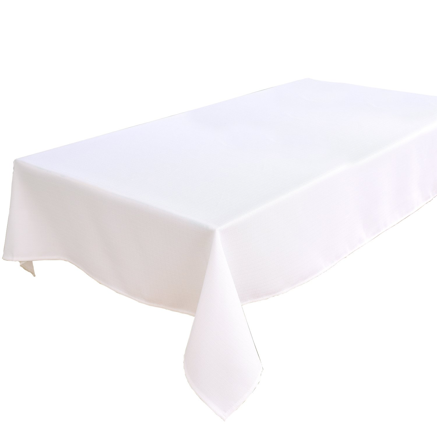 HIGHFLY Linen Rectangle Tablecloth 55 x 87-Inch Waterproof and Stain Resistant Natural Table cloth for Dining Room