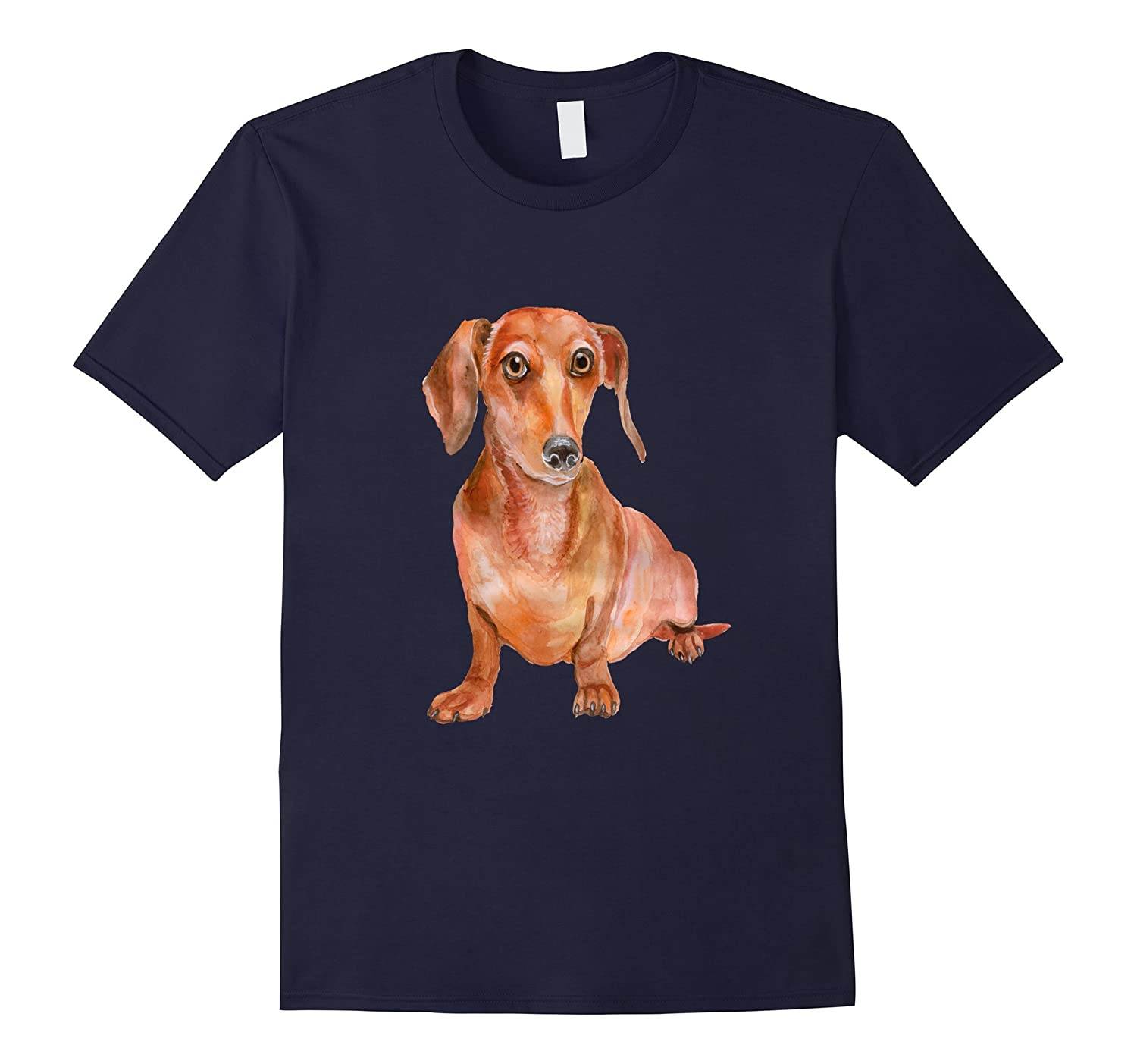 Dachshund Wiener Dog Shirt Watercolor Realistic Dogs Mom Dad-CD