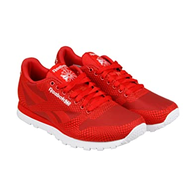 5857e784904 Reebok CL Runner Jacquard Mens Red Synthetic Athletic Lace Up Running Shoes  10.5  Amazon.co.uk  Shoes   Bags