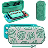Carrying Case Compatible with Nintendo Switch, [for Animal New Horizons Edition] New Leaf Crossing Design, Portable…