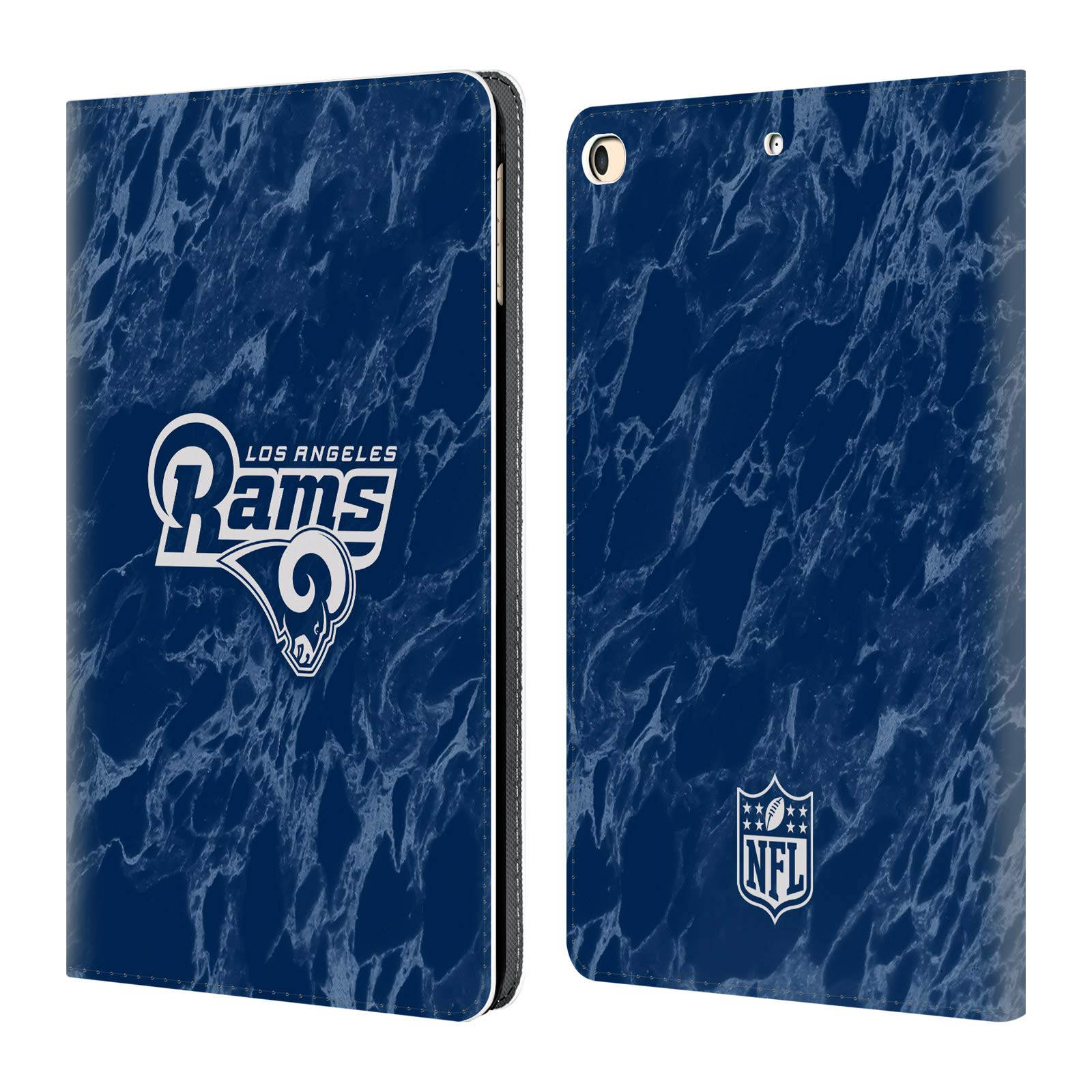 Official NFL Coloured Marble 2018/19 Los Angeles Rams Leather Book Wallet Case Cover for iPad 9.7 2017 / iPad 9.7 2018