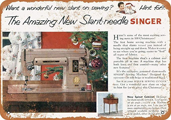 Yohoba 1952 Slant-Needle Singer máquina de Coser de Aspecto ...