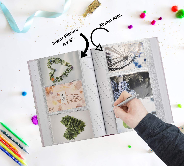 22 x 4,5 x 33 cm Album per 300 Foto da 10 x 15 cm ricordi ARPAN con Spazio per annotazioni Accanto a Ogni Fotografia e Pagine da Inserire