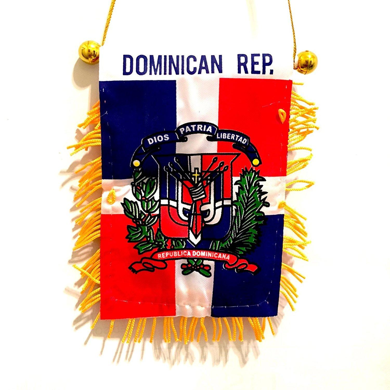 Amazon.com : La república dominicana carro banderas espejo retrovisor coche auto camioneta suv camioneta para auto o casa : Garden & Outdoor