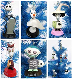 nightmare before christmas bobble head holiday christmas ornament set unique shatterproof plastic design by holiday - Jack Skellington Christmas Decorations