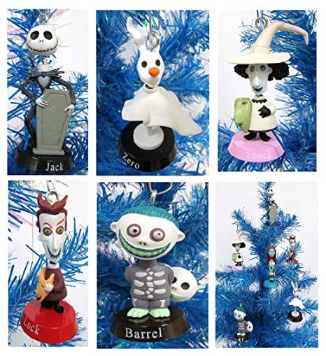 Nightmare Before Christmas Bobble Head Holiday Christmas Ornament Set Unique Shatterproof Plastic Design By Holiday Ornaments