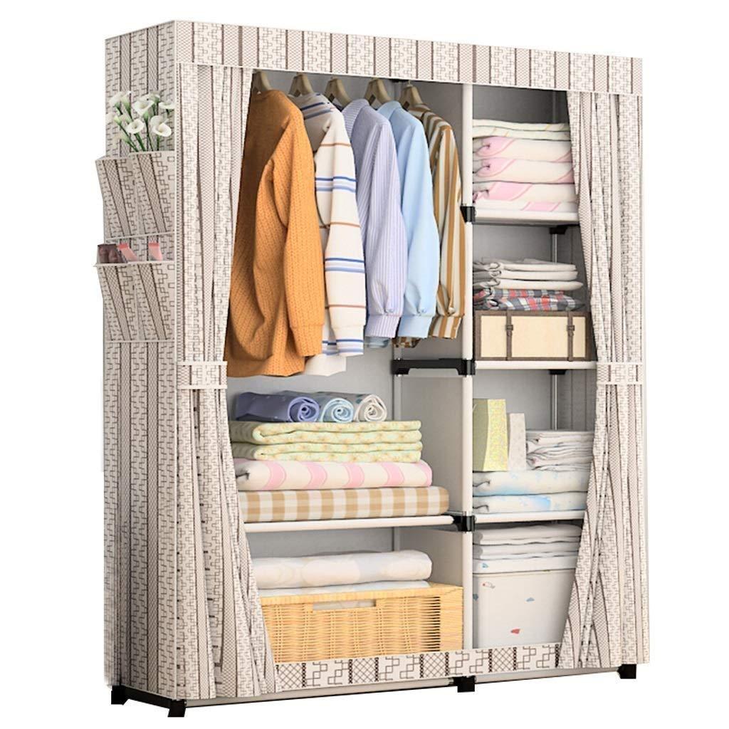 XSWZAQ Simple Wardrobe Fabric Simple Modern Storage Cabinet Economy Cloth Wardrobe (Size: 17010545cm) (Color : B) by XSWZAQ