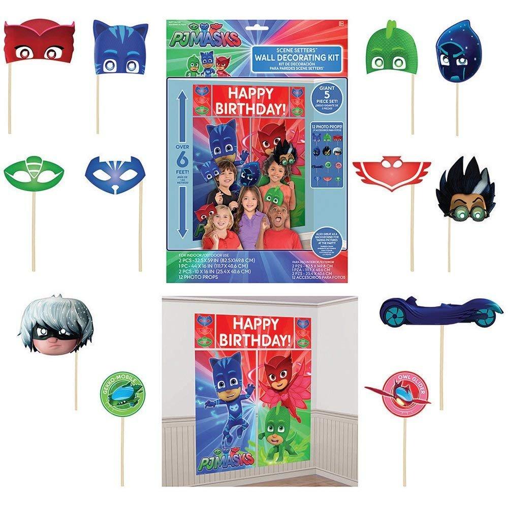 PJ Masks - Pack de 6 Figuras y 3 Armas: Gatuno, Buhíta, Gekko, Lunática, Romeo y Ninja Nocturno (con Caja Original): Amazon.es: Juguetes y juegos