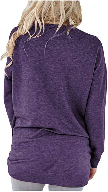 MODARANI Mama Bear T Shirts Women Long Sleeve Tunic Tops Casual Loose Fit Comfy