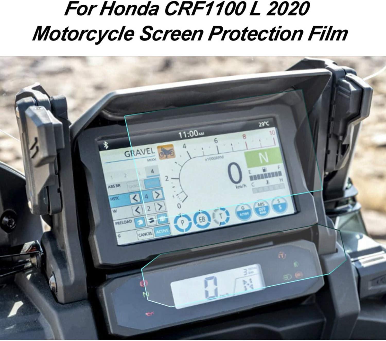 Camisin Pantalla Protectora de la Pantalla del Salpicadero de la Motocicleta Pel/íCula de Rayado del Veloc/íMetro para CRF1100L CRF 1100L Africa Twin 2020