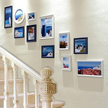 Amazon.com: ZGP Home@Wall Photo Frame Staircase Shaped Photo ...