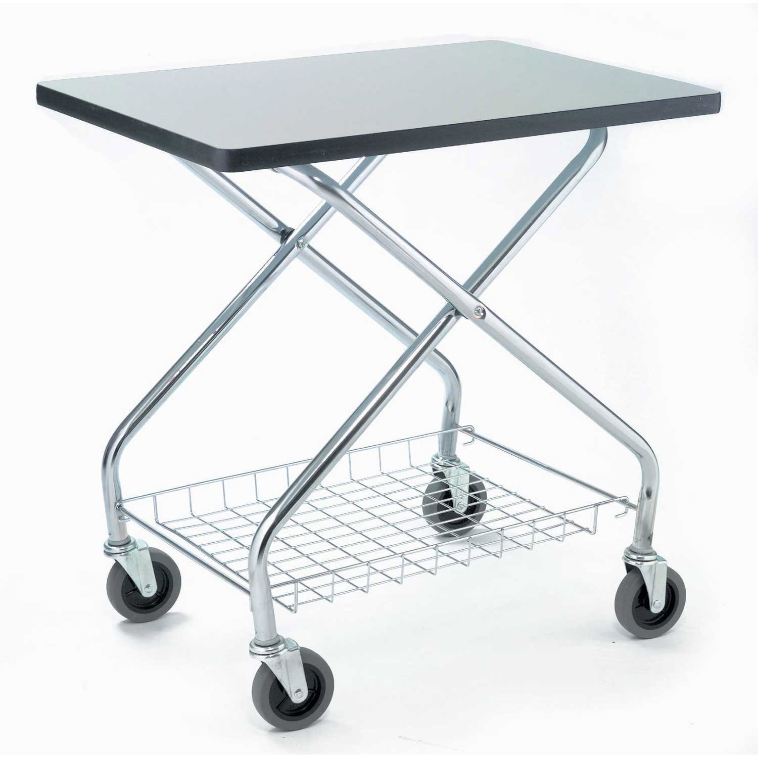 Fold and Store Service Cart, 350 Lb. Capacity, 28''L x 19''W x 29''H