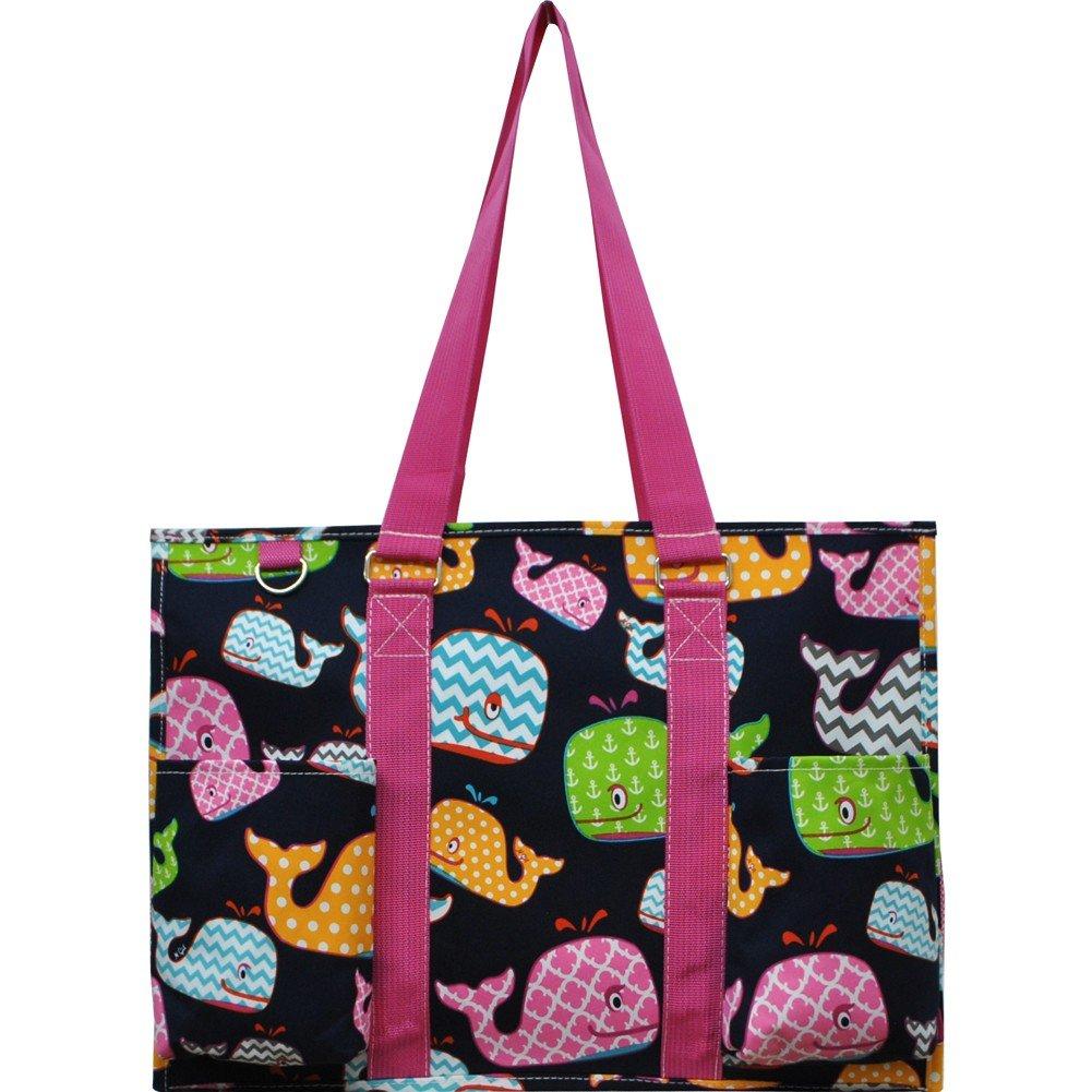 Sea Summer Whale Print NGIL Large Travel Caddy Organizer Tote Bag