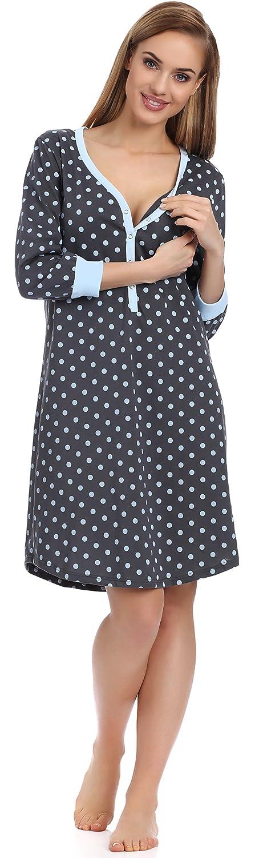 Italian Fashion IF Lactancia Camisón para Mujer Nora 0111 S)