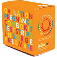 PREGMATE 100 Ovulation and 20 Pregnancy Test Strips Predictor Kit