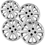 Hub-Caps for Select Chevy Cobalt (Pack of 4) 15 Inch Silver Wheel Covers
