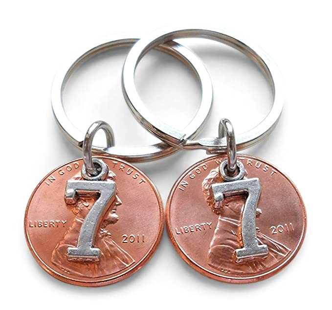 Amazon Double Keychain Set 2011 Us One Cent Penny Keychains