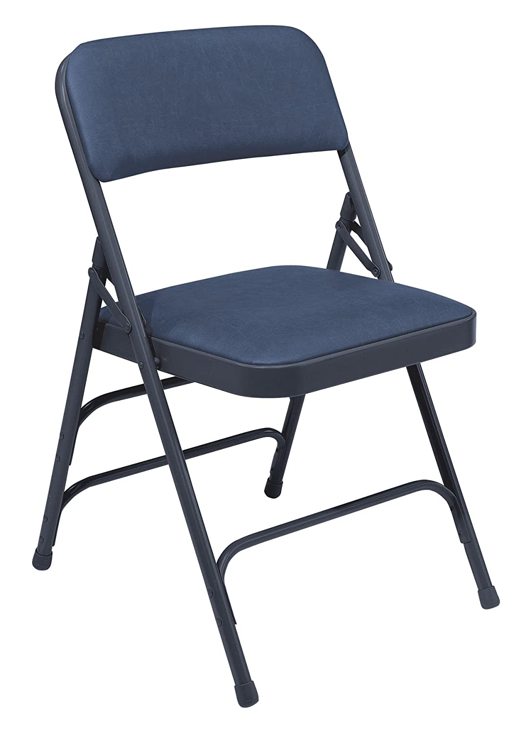 Amazon.com: National Public Seating 1300 Series Steel Frame Upholstered  Premium Vinyl Seat And Back Folding Chair With Triple Brace, 480 Lbs  Capacity, ...