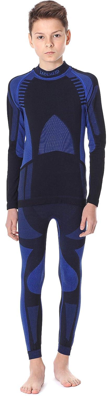 Ladeheid Kinder Mä dchen Jungen Funktionsunterwä sche Set Langarm Shirt Lange Unterhose Thermoaktiv LASS0006