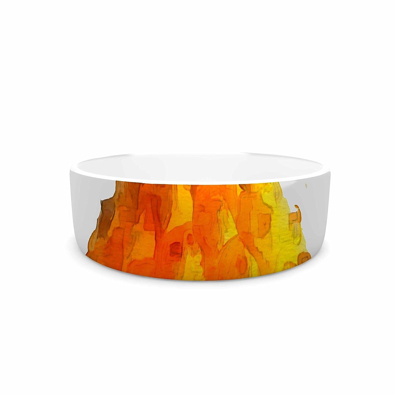 KESS InHouse Oriana Cordero Before Pina Colada  orange Green Pet Bowl, 7